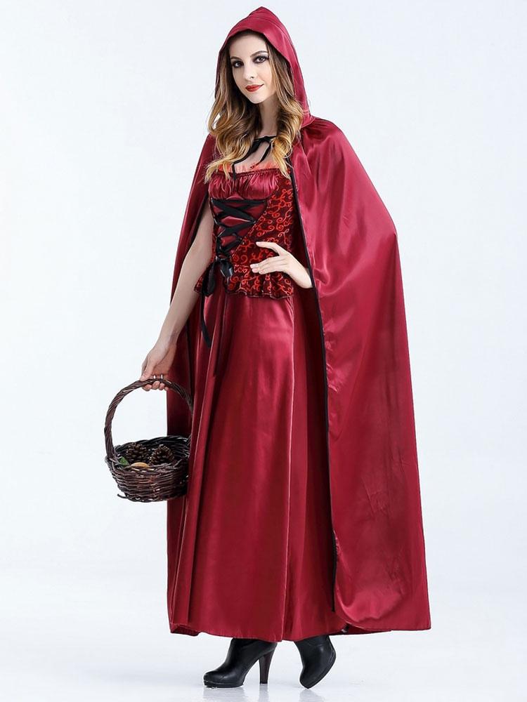 ... Halloween disfraces de Caperucita Roja Traje Cosplay mujer con guantes  Halloween-No.4 ... a21c84440776