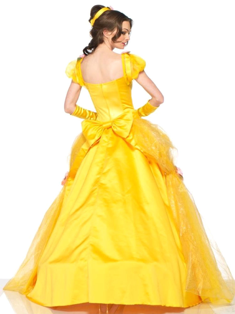 Schöne und das Biest Kleid gelb Scoop Prinzessin Kleid Cosplay ...