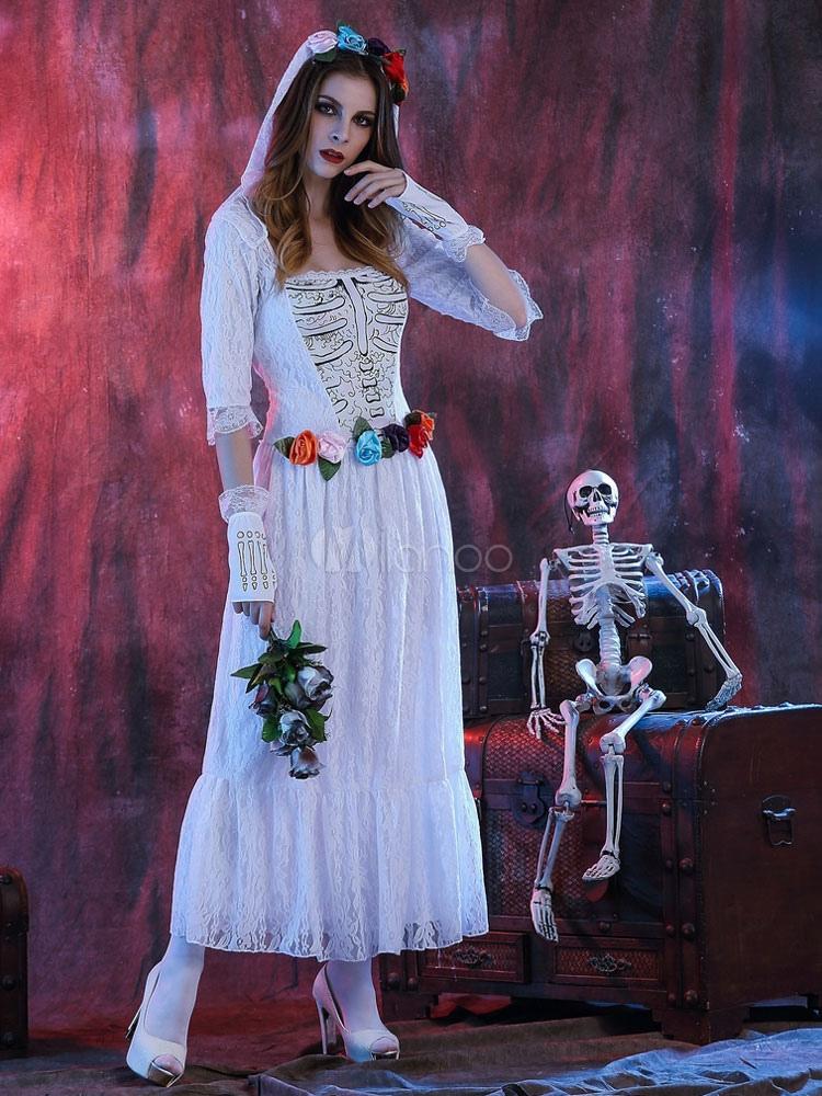 Dorable Disfraz De Halloween Vestido De Novia Molde - Vestido de ...