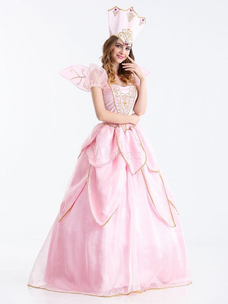 karneval sexy karneval kost me prinzessin rosa kleid mit hut karneval. Black Bedroom Furniture Sets. Home Design Ideas