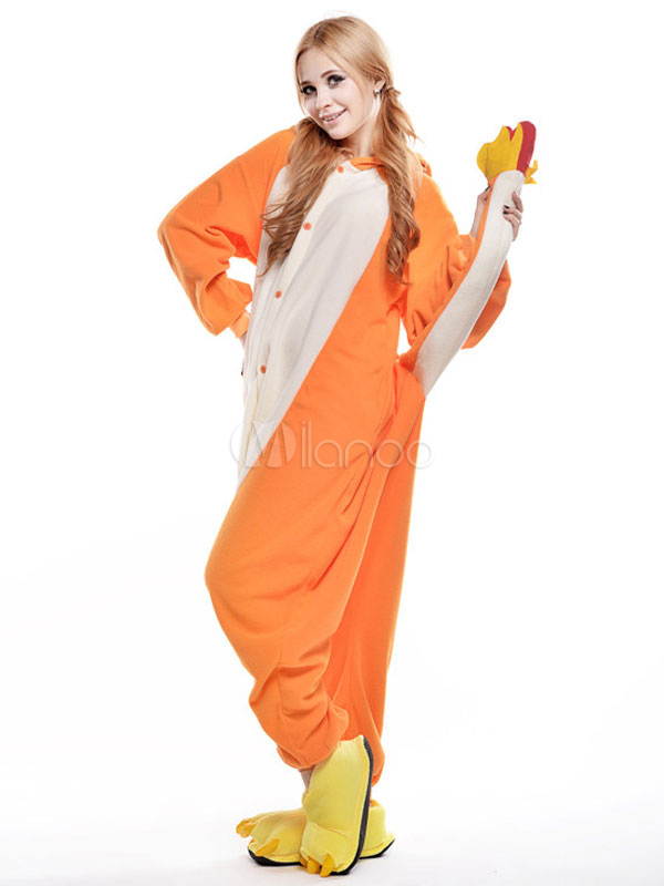 Kigurumi Pajama Pokemon Salameche Onesie Womens Cute Flannel Jumpsuit Costume Halloween