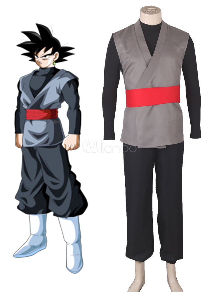 Dragon Ball Super Son Goku Kakarotto Halloween Cosplay Costume Black Halloween