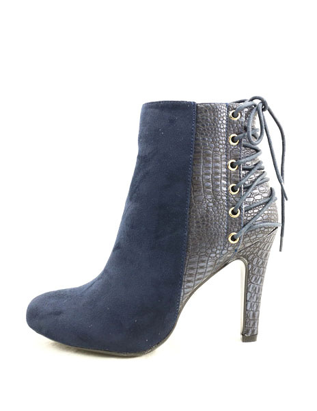 Women's Ankle Boots Blue Suede Booties