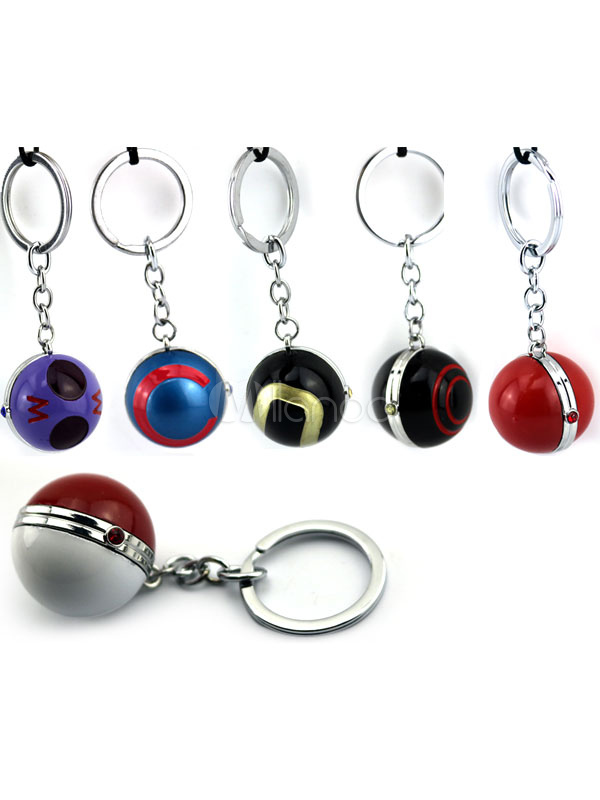 Buy Pokemonster Pokemon Go Poke Ball Anime Game Key Chain Halloween for $3.67 in Milanoo store