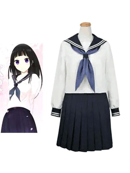 Buy Hyoka Chitanda Eru Halloween Cosplay Costume School Girl Uniform Halloween for $67.99 in Milanoo store