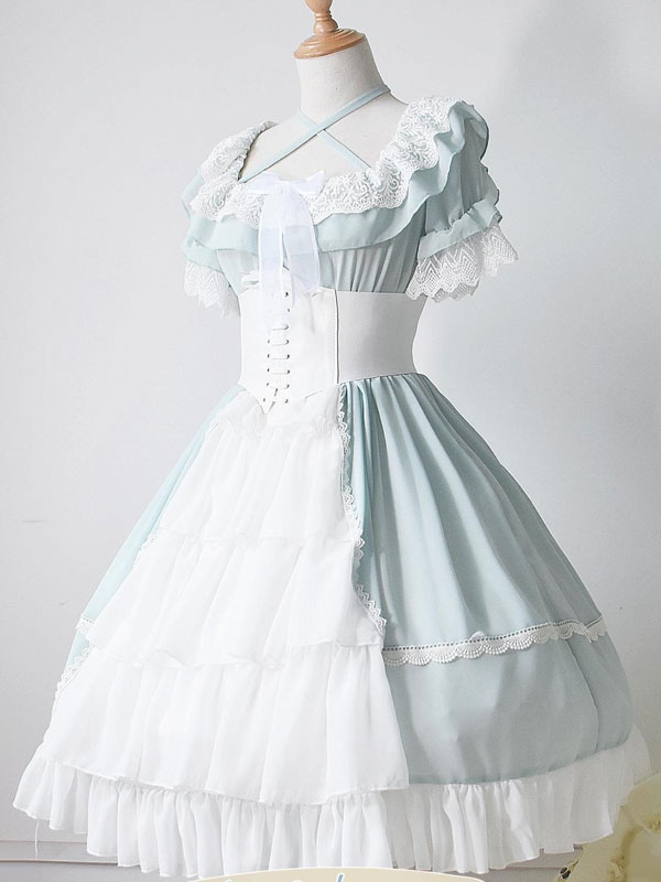 Lolita Wedding Dress Op One Piece Colorful Fairytale Lace