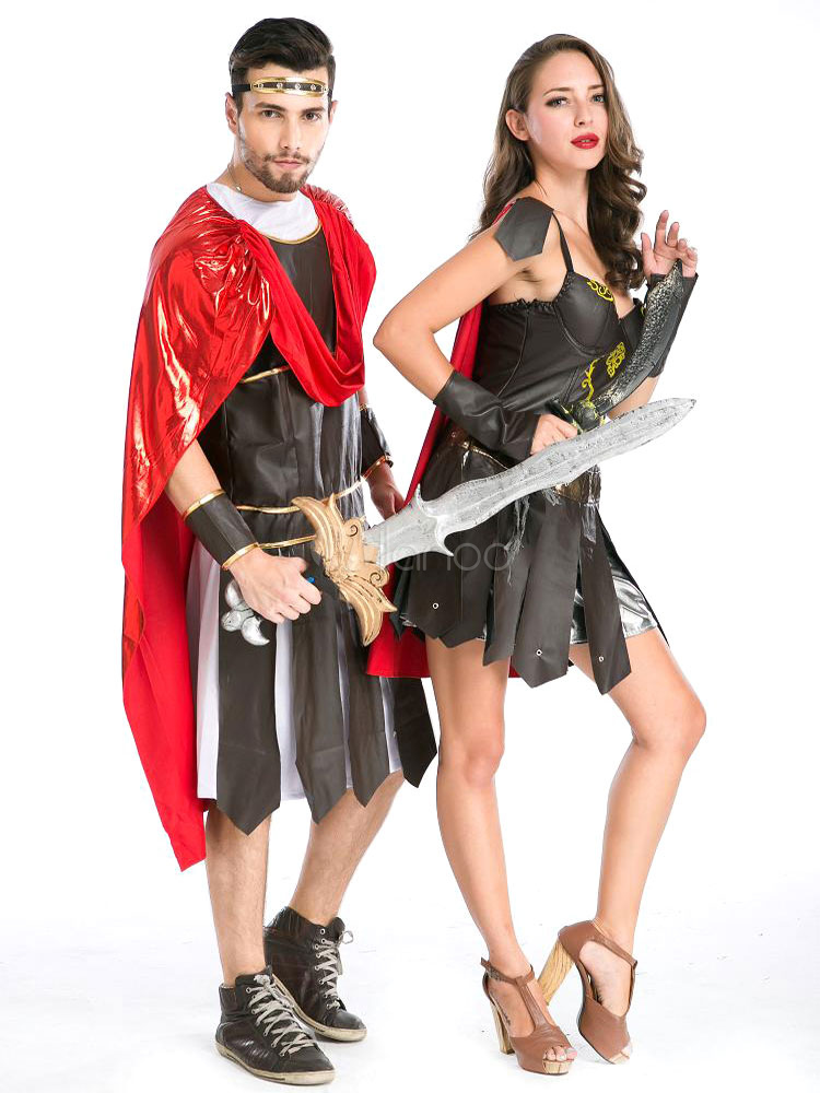Couples Costumes 2018 Roman Gladiator Couple Halloween Costume-No.1 ...  sc 1 st  Milanoo.com & Couples Costumes 2018 Roman Gladiator Couple Halloween Costume ...