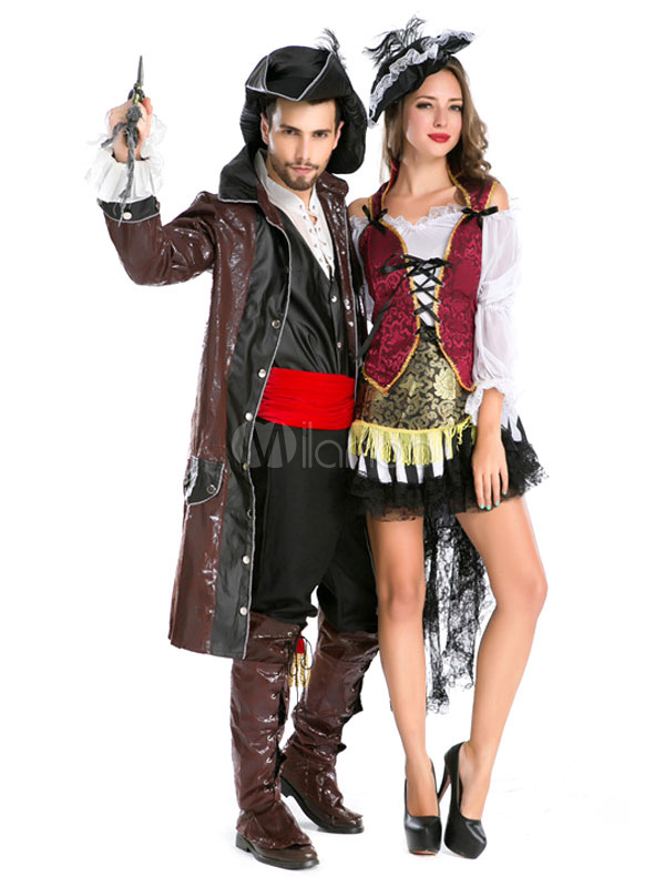 couples costumes 2018 pirate costume deep brown couples