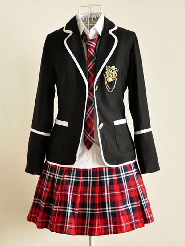 Anime School Girl Uniform Kawaii British School Uniform Suit Halloween