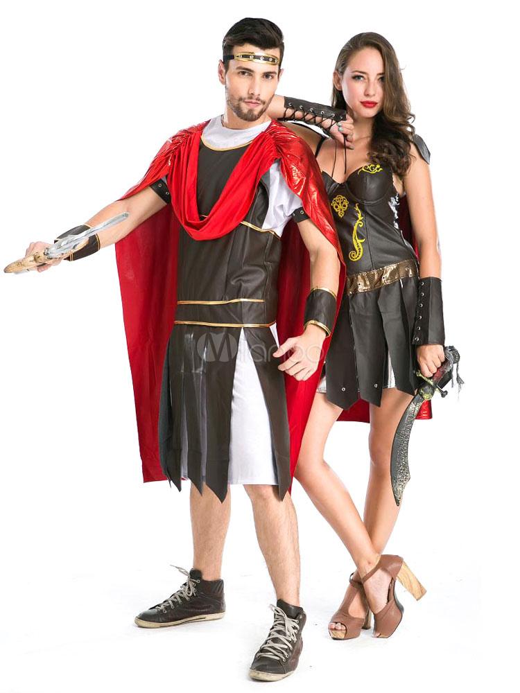 Couples Costumes 2018 Roman Gladiator Couple Halloween