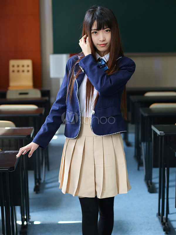 Buy Anime School Girl Uniform Kawaii British School Uniform Suit Halloween for $47.99 in Milanoo store
