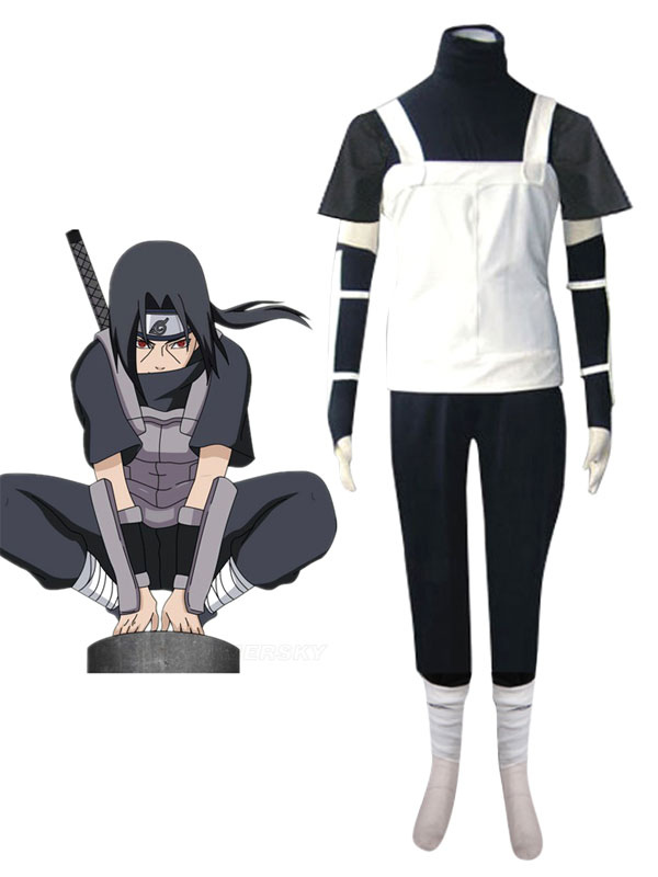 Naruto Uchiha Itachi Halloween Cosplay Costume Anbu Uniform Halloween