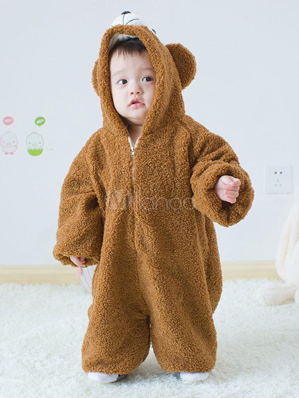 3a06efb14 Kigurumi Pajamas Duffy Bear Onesie Toddlers Brown Flannel Cute ...