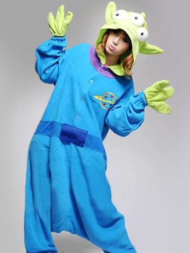 ... Kigurumi Onesie Pajama Toy Story Alien Costume Green Three Eye Adult Flannel Sleepwear Halloween-No ...  sc 1 st  Milanoo.com & Kigurumi Onesie Pajama Toy Story Alien Costume Green Three Eye Adult ...