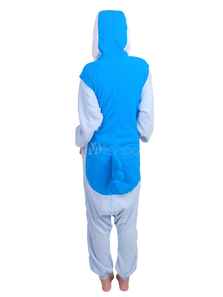 c4fc47a5c9 ... Kigurumi pijamas mono de pingüino para adulto franela azul animales de  dibujos animados traje ropa de