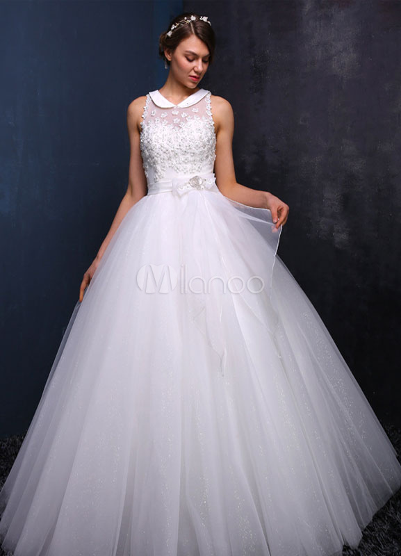 vestido de novia sin mangas rebordear vestido de novia cuello peter