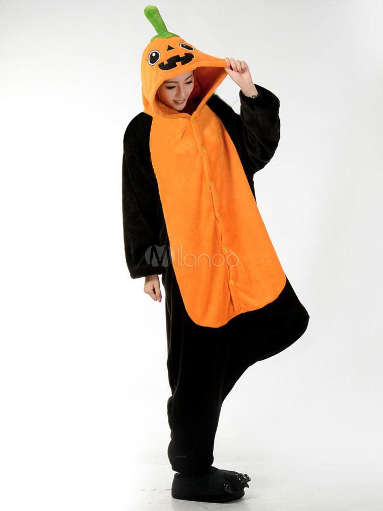 693835ead ... Kigurumi Pajamas Halloween Pumpkin Onesie For Adult Flannel Cosplay  Costume Sleepwear Halloween-No.4 ...
