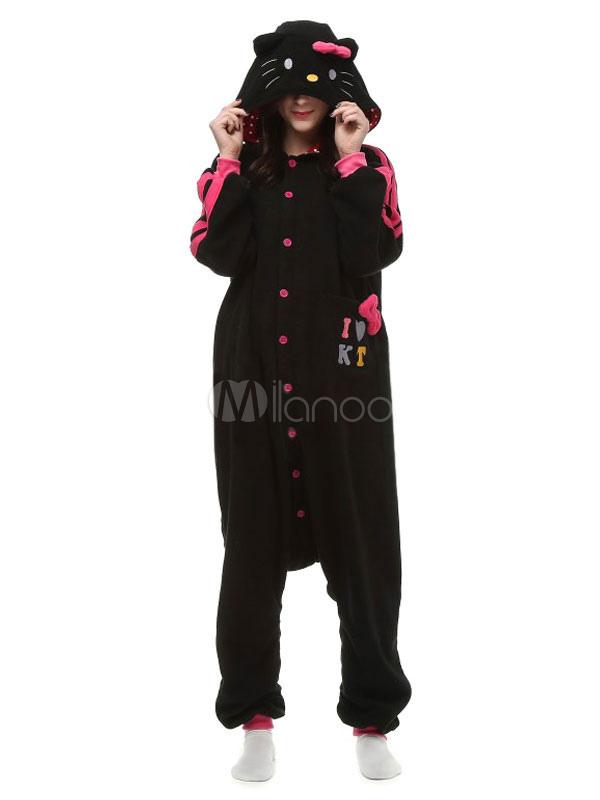 karneval kigurumi schlafanzug hello kitty strampler f r. Black Bedroom Furniture Sets. Home Design Ideas