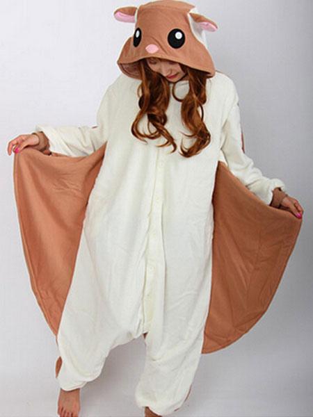 Nuovi Prodotti aad1f bf9ea Kigurumi pigiama scoiattolo volante Onesie per adulto flanella marrone  Costume animale pigiameria Carnevale