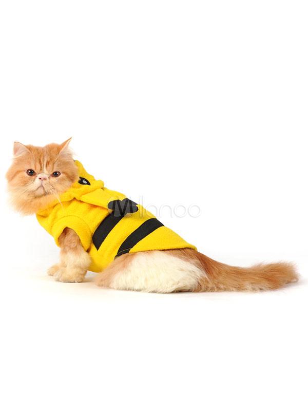 Buy Halloween Dog Costume Pikachu Yellow Pet Costumes Halloween for $29.99 in Milanoo store