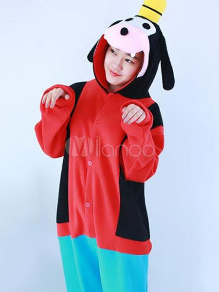 d96410b65c24 ... Kigurumi Pajama Dog Goofy Onesie Multicolor Flannel Animal Costume For  Adults Halloween-No.3 ...