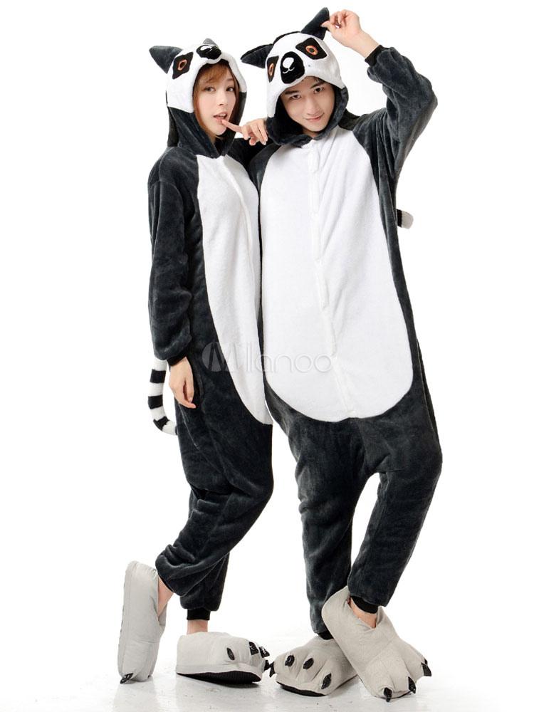 in vendita 52be2 c3245 Kigurumi pigiama scimmia Onesie flanella bicolore animale tutina costume  Carnevale