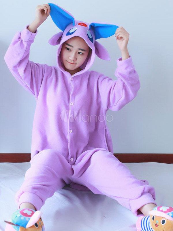 302e4f61653c Kigurumi Pajamas Pokemon Onesie For Adult Purple Flannel Anime Animal  Cosplay Costume Halloween-No.