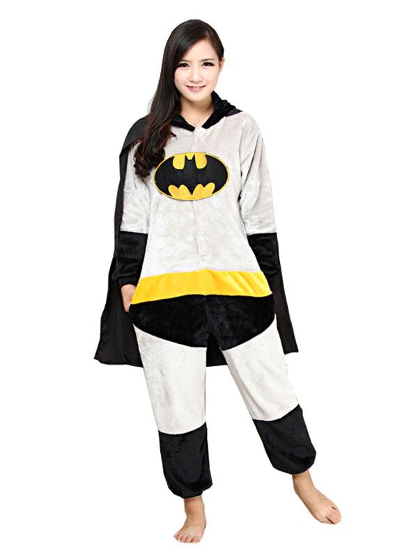d71116e36ff774 Batman Kigurumi Pajama Grey Adult Onesie Flannel Cosplay Costume Halloween