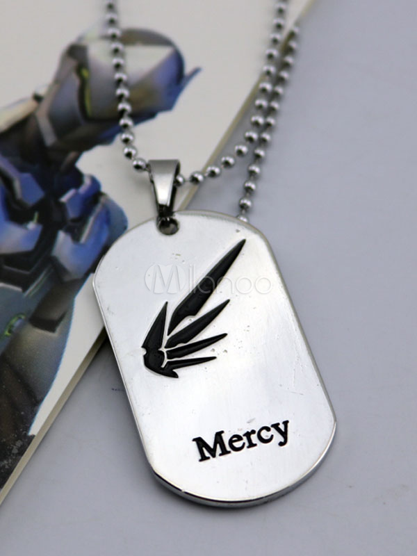 Buy Overwatch Ow Mercy Metal Tag Blizzard Video Game Metal Tag Halloween for $3.67 in Milanoo store