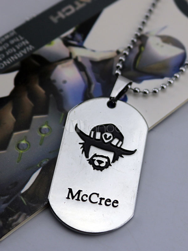 Buy Overwatch Ow Mccree Metal Tag Blizzard Video Game Metal Tag Halloween for $3.67 in Milanoo store