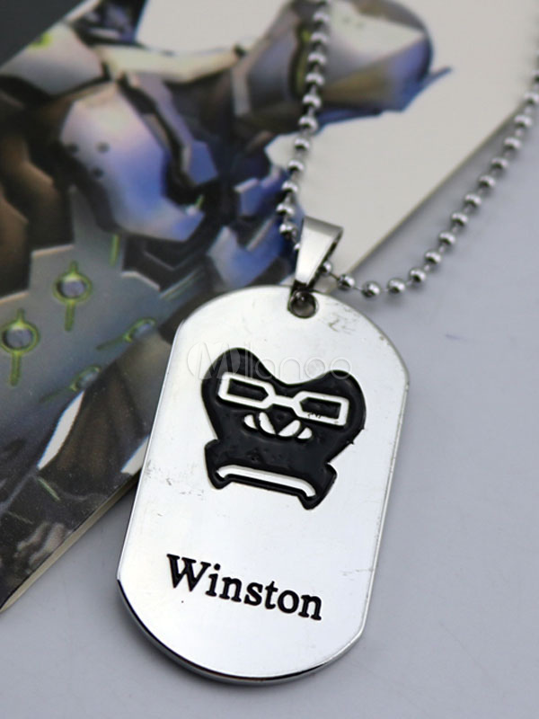 Buy Overwatch Ow Winston Metal Tag Blizzard Video Game Metal Tag Halloween for $3.67 in Milanoo store
