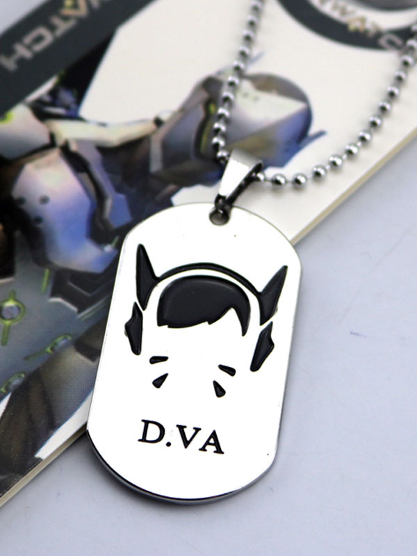 Buy Overwatch Ow D.va Metal Tag Blizzard Video Game Metal Tag Halloween for $3.59 in Milanoo store