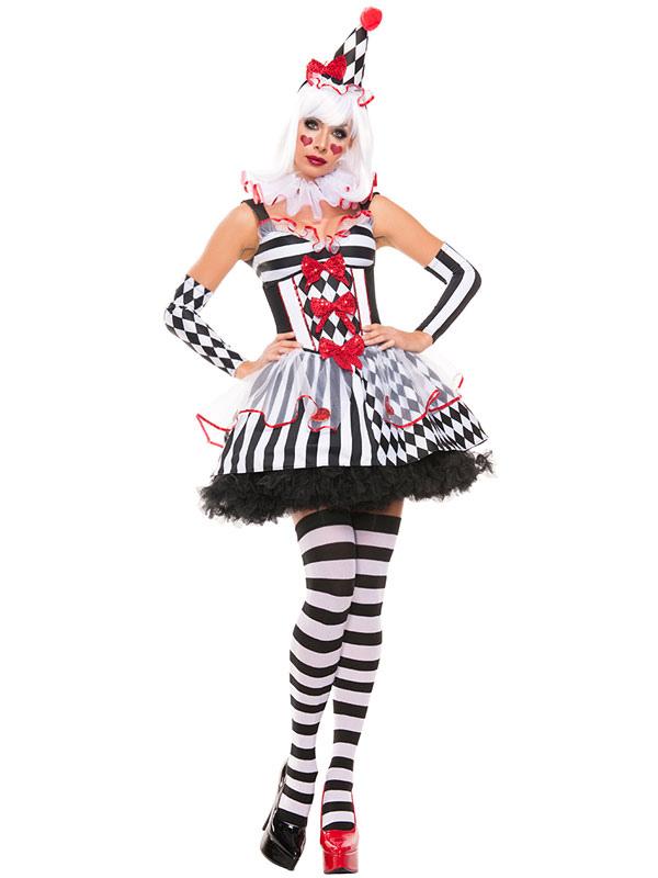 4b8c5914fbfbf Karneval Clown Kostüm Outfit Frauen süß Zirkus Kostüm Karneval-No.1 ...