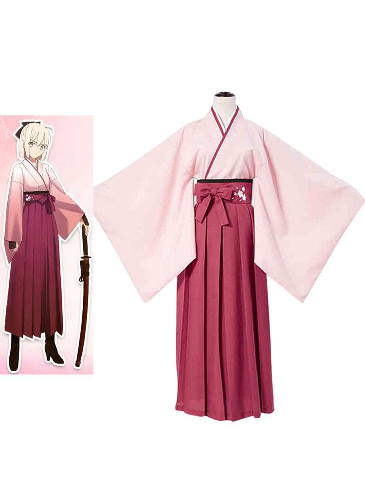 Fate Grand Order Sakura Saber Cosplay Costume Halloween