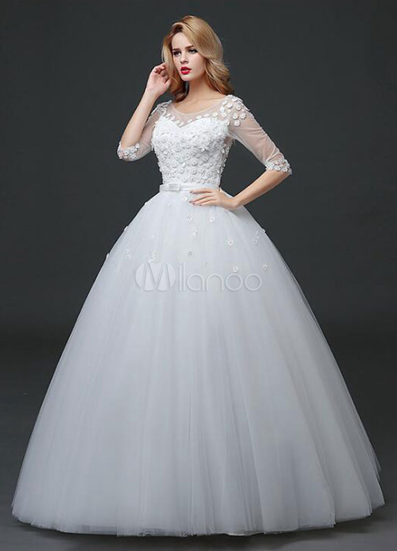 White Knee Length Dress
