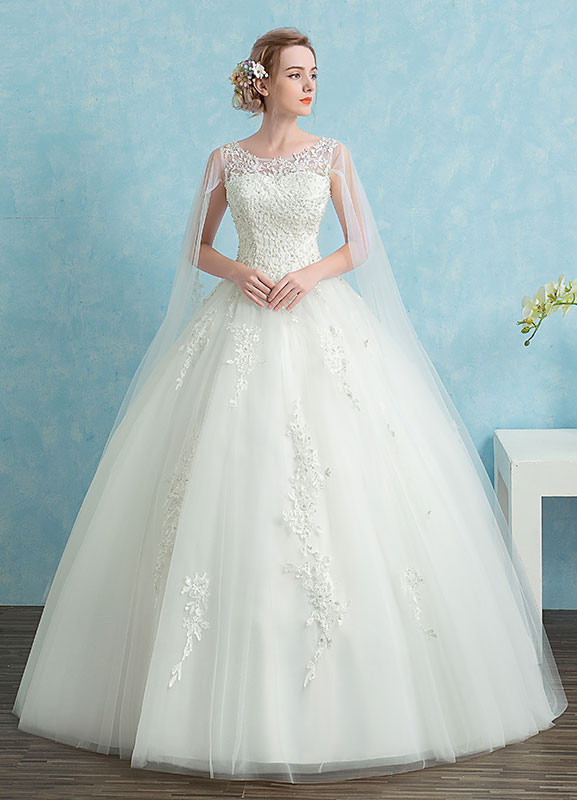 All lace plus size wedding dress
