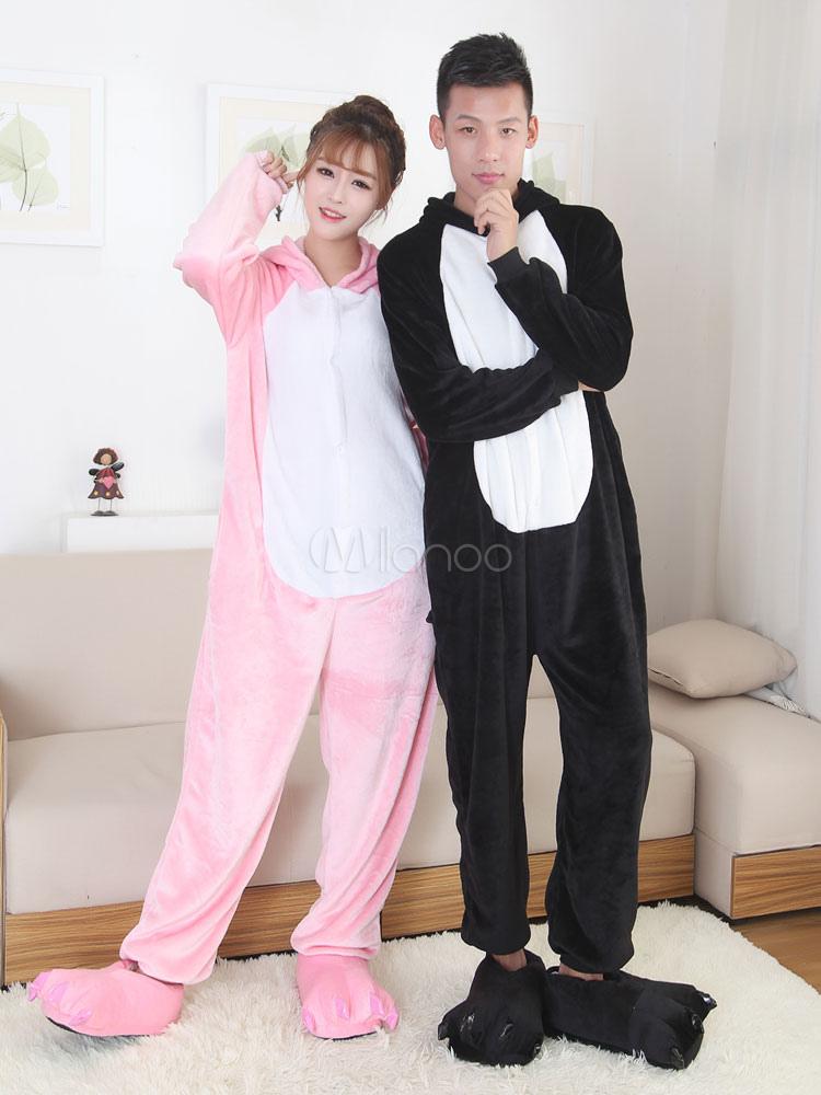 9a34a20bbdef Kigurumi пижамы свиньи Onesie Snuggie фланели с длинным рукавом животных  пижамы для двоих-No.
