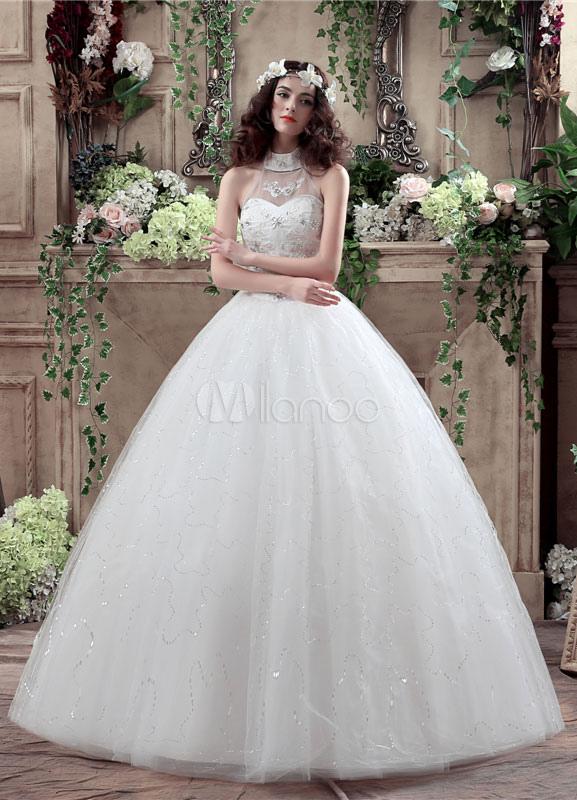 Halfter Hochzeit Kleid Spitze Perlen Maxi Brautkleid rückenfreie ...