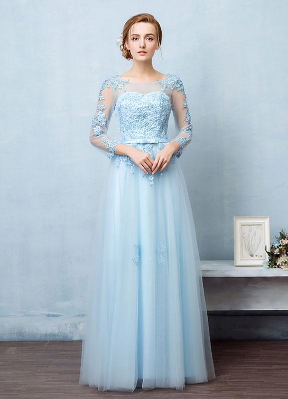 9b537323ca6 Тюль вечернее платье с открытой спиной бисером цветок аппликации выпускного  вечера платье иллюзия декольте A линия ...