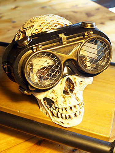 Buy Halloween Steampunk Goggles Vintage Men's Black Costume Accessories Halloween for $60.29 in Milanoo store