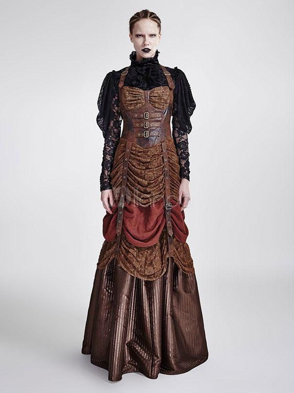 Robe Steampunk Vintage Costume victorien Party Dress femmes Halloween