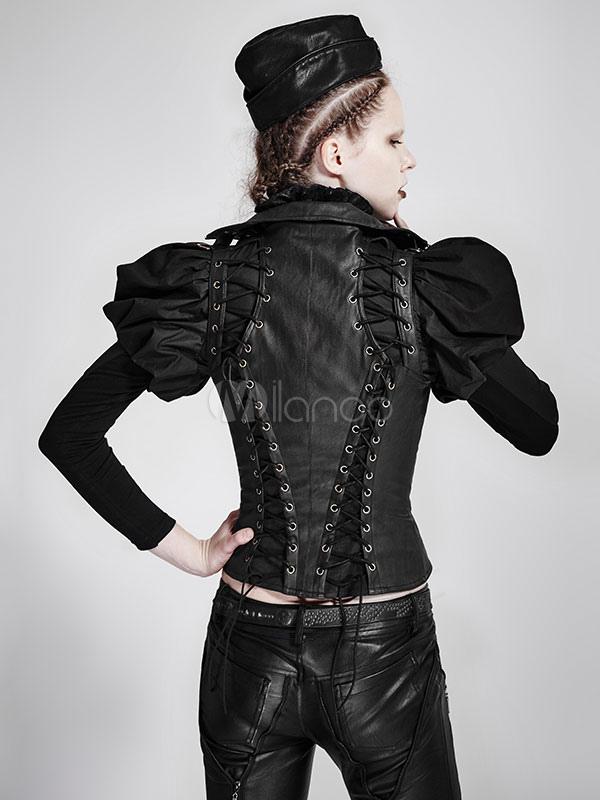 Connu Steampunk vêtements Vintage Renaissance gothique Costume PU gilet  OS42