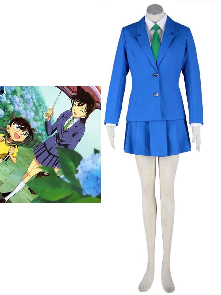Detective Conan Case Closed Rachel Moore Mouri Ran Cosplay Costume School Girl Costume Halloween