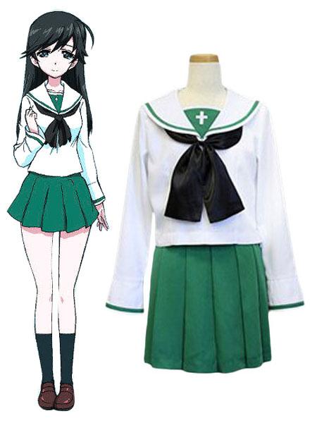 GIRLS Und PANZER Isuzu Hana Cosplay Costume Ooarai Girls High School Uniform Halloween