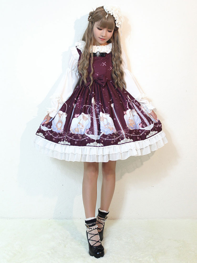 Buy Sweet Lolita Dress JSK Aquarius Printed Lolita Jumper Skirt for $161.99 in Milanoo store