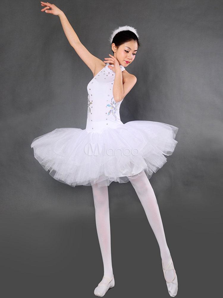 Vestido Blanco De Ballet Vestido De Tutú Con Cuentas Vestidos D Baile De Ballet