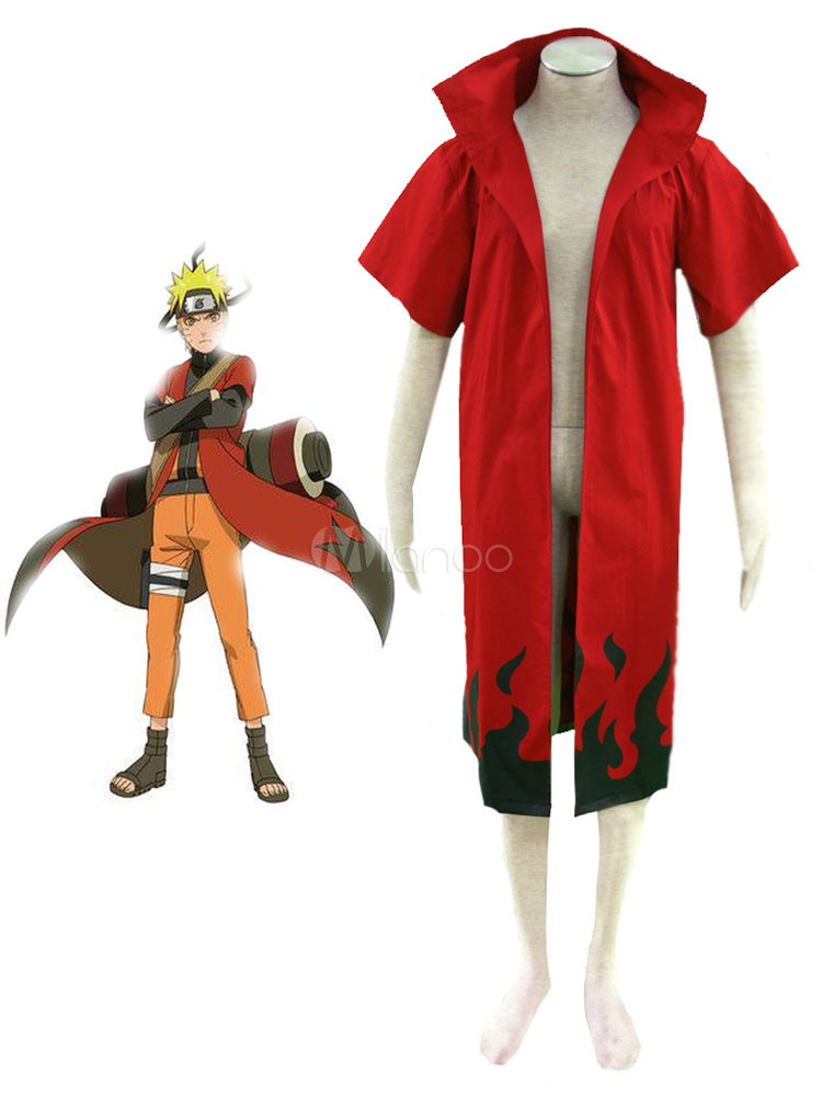 Buy Naruto Uzumaki Naruto Sennin Model Cosplay Cloak Costume Halloween for $47.99 in Milanoo store