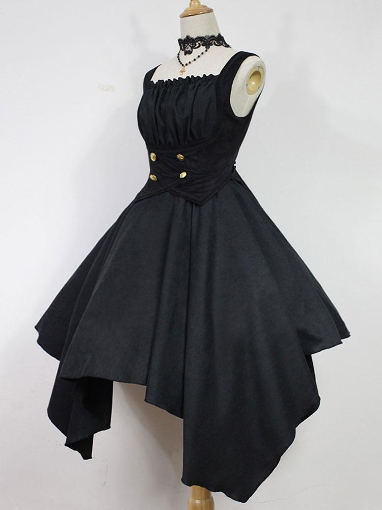 Gothic Lolita Dress Jsk Dead Ghost Melody Asymmetrical