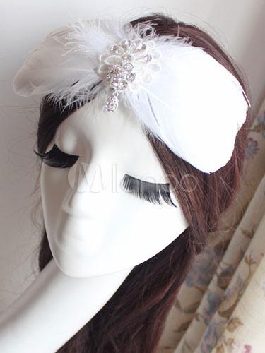 White Feather Headpiece Ballet Costume Hairpin Milanoo Com