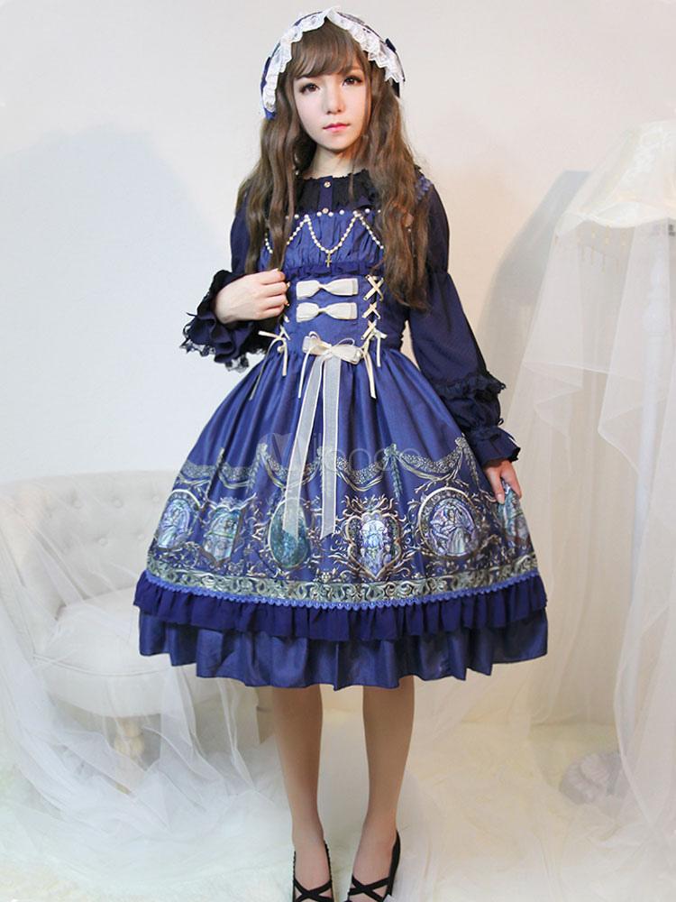 Classic Lolita Dress JSK Raphael's Chant Print Lolita Jumper Skirt